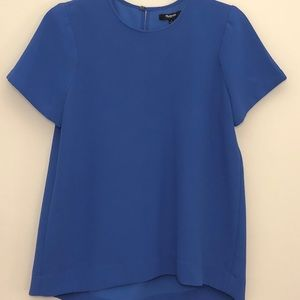 Madewell thick blue blouse